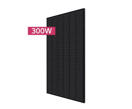 LG 300N1K Black on Black Mono Solar Panel