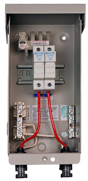 MidNite Solar MNPV2-MC4, 2 Position Pre-Wired Combiner Box
