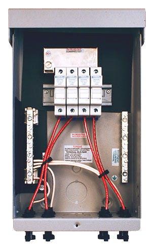 MidNite Solar MNPV4-MC4, 4 Position Pre-Wired Combiner Box