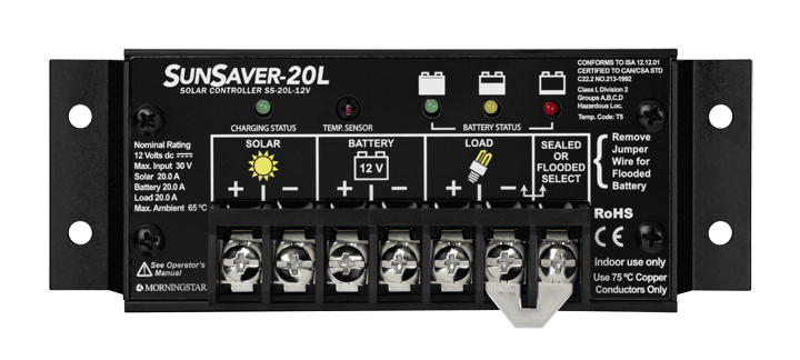 Morningstar Corporation SunSaver SS-20L-12V Charge Controller