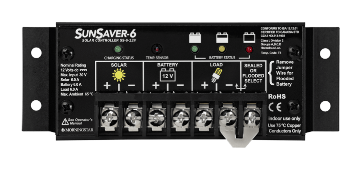 Morningstar Corporation SunSaver SS 6-12V Charge Controller