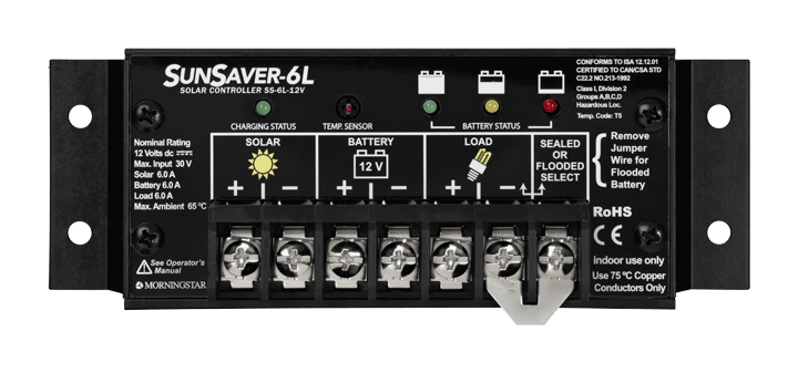 Morningstar Corporation SunSaver SS-6L-12V Charge Controller