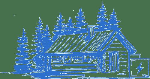 off grid power storage cabin house