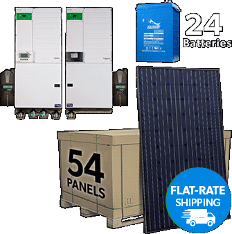 Flat-Rate Shipping Solar Kit