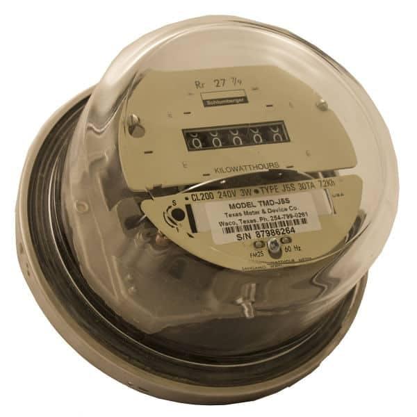 General Electric Kilowatt Hour Meter w/ Conventional Dial