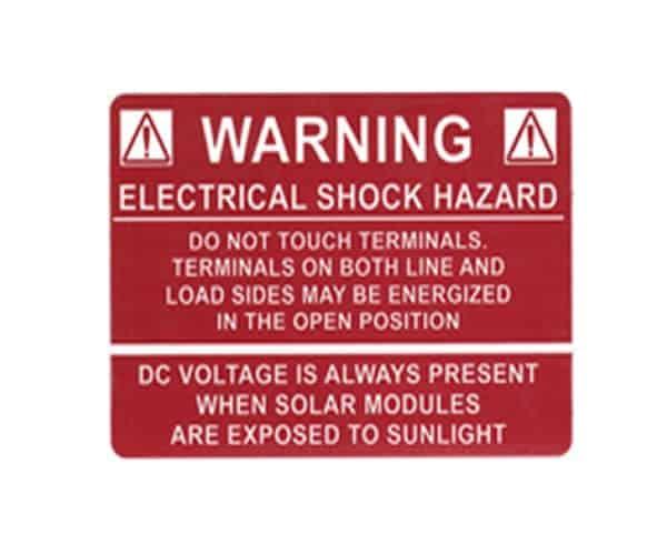 Other Manufacturer Warning - Electrical Shock Hazard Label