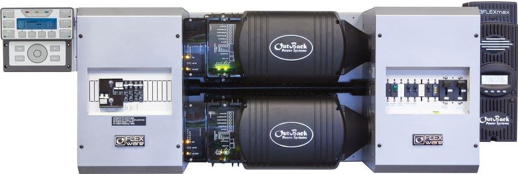 Outback Power FP2 VFXR3024E w/ 2 FM80s FLEXpower TWO, Export Power Center