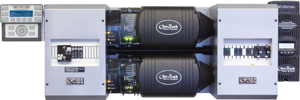 Outback Power FP2 VFXR3048E w/ 2 FM80s FLEXpower TWO, Export Power Center