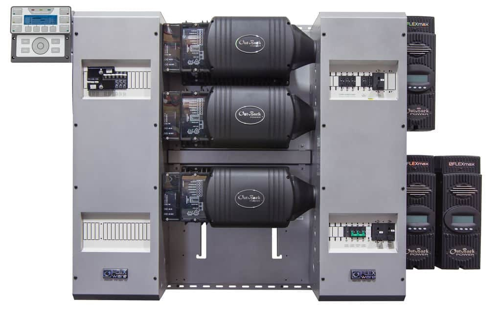 Outback Power FP3 FXR3048A-01 w/ FM80 FLEXpower THREE Power Center