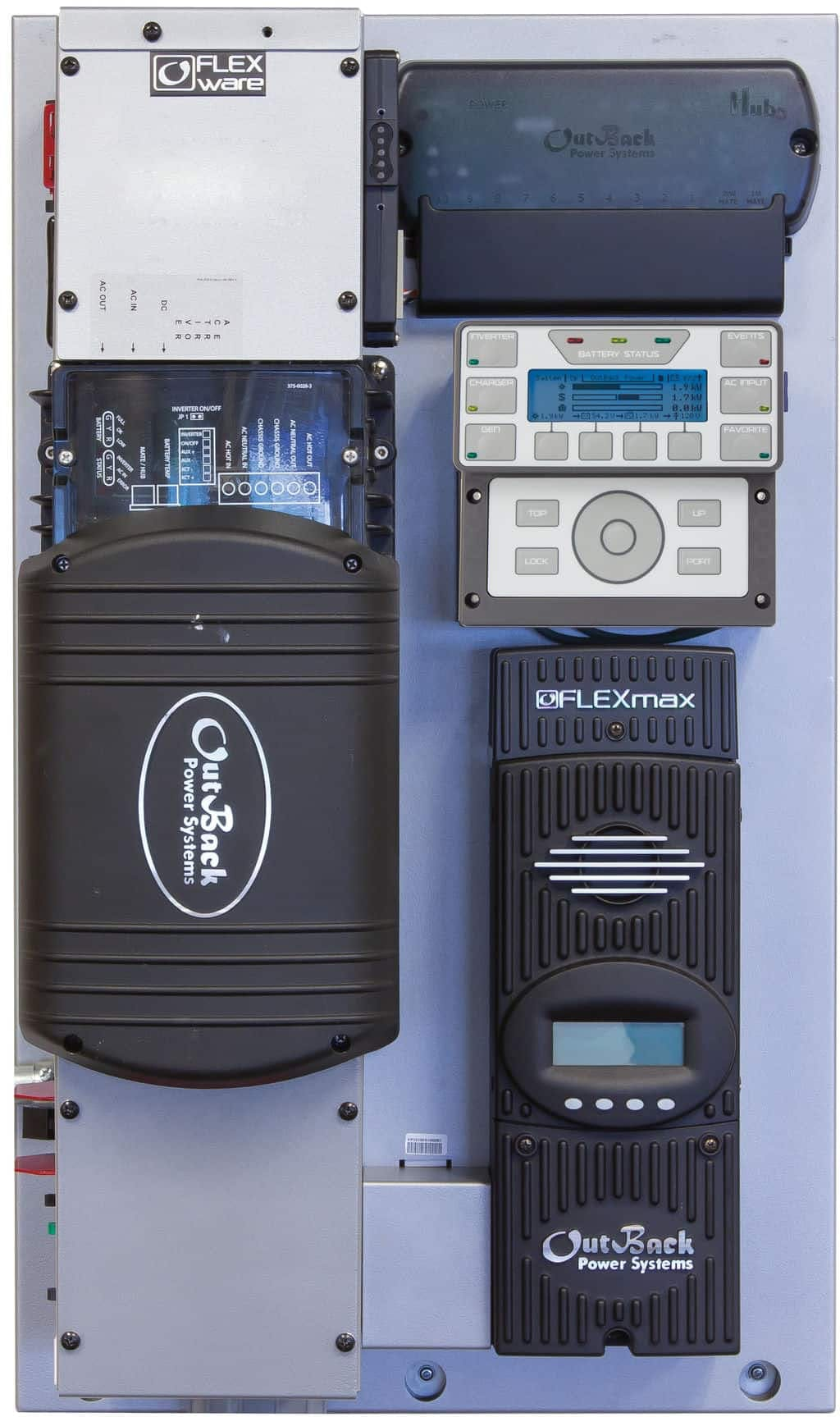 Outback Power Outback FP1 VFXR3048E, FM80 FLEXpower ONE, Single Inverter System, Export Power Center