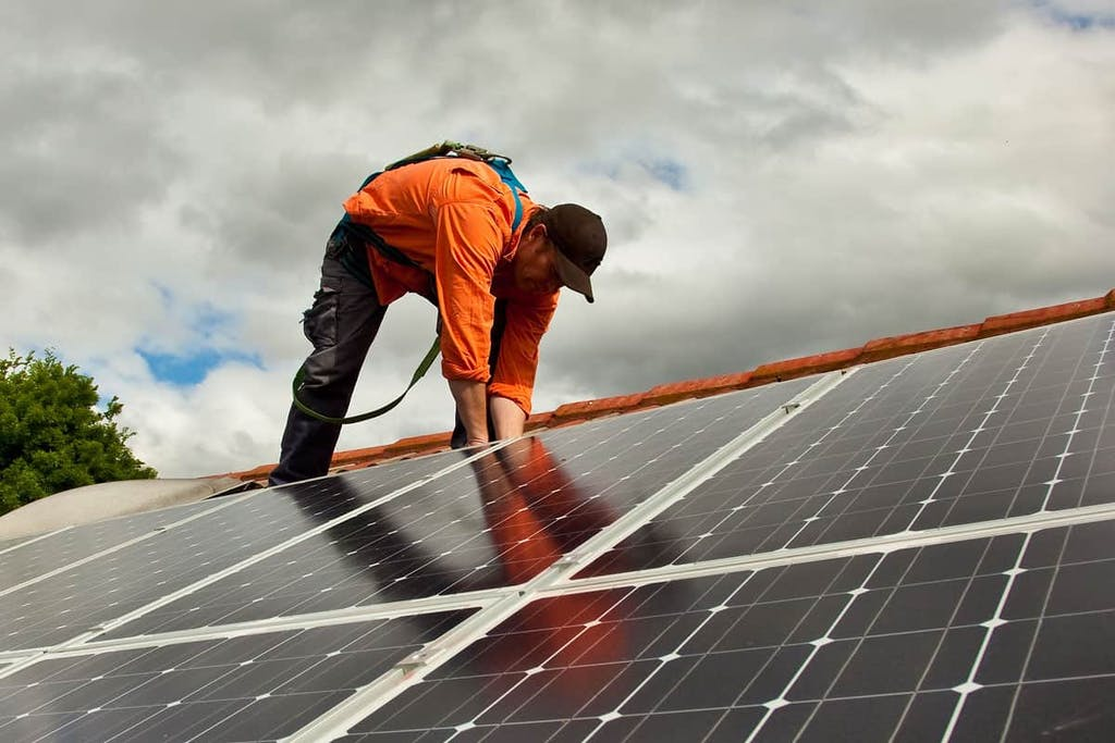 Use fall protection if you install solar on your roof.