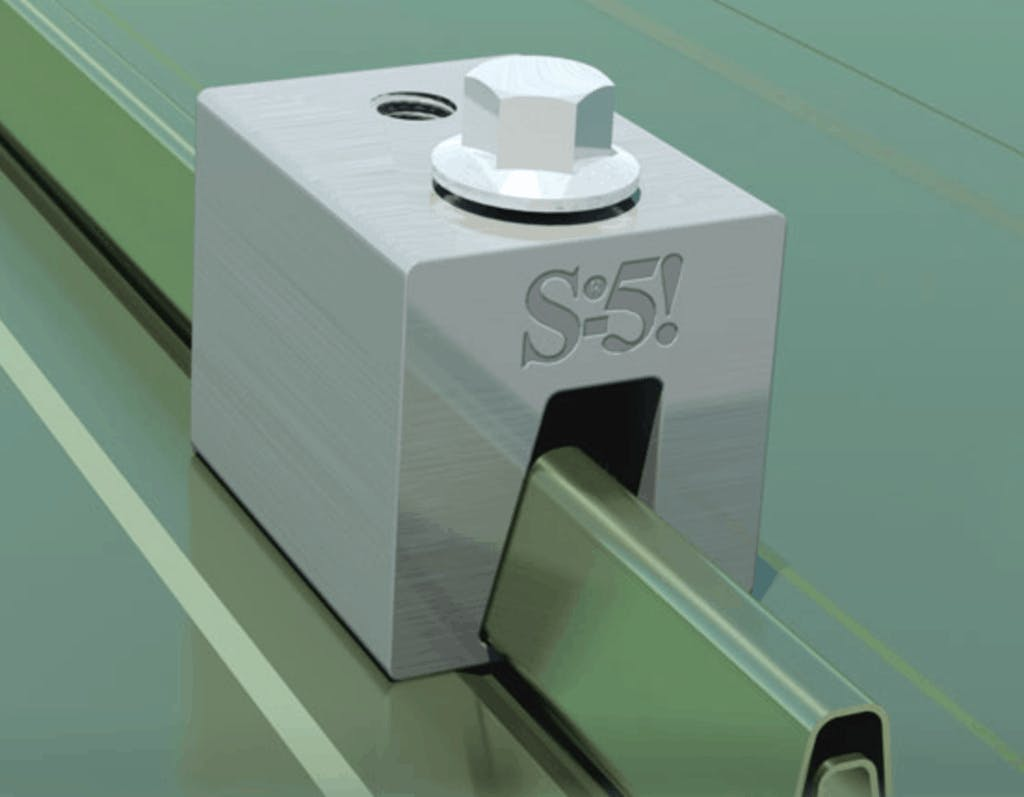 S-5 N Standing Seam Metal Roof Clamp - Single