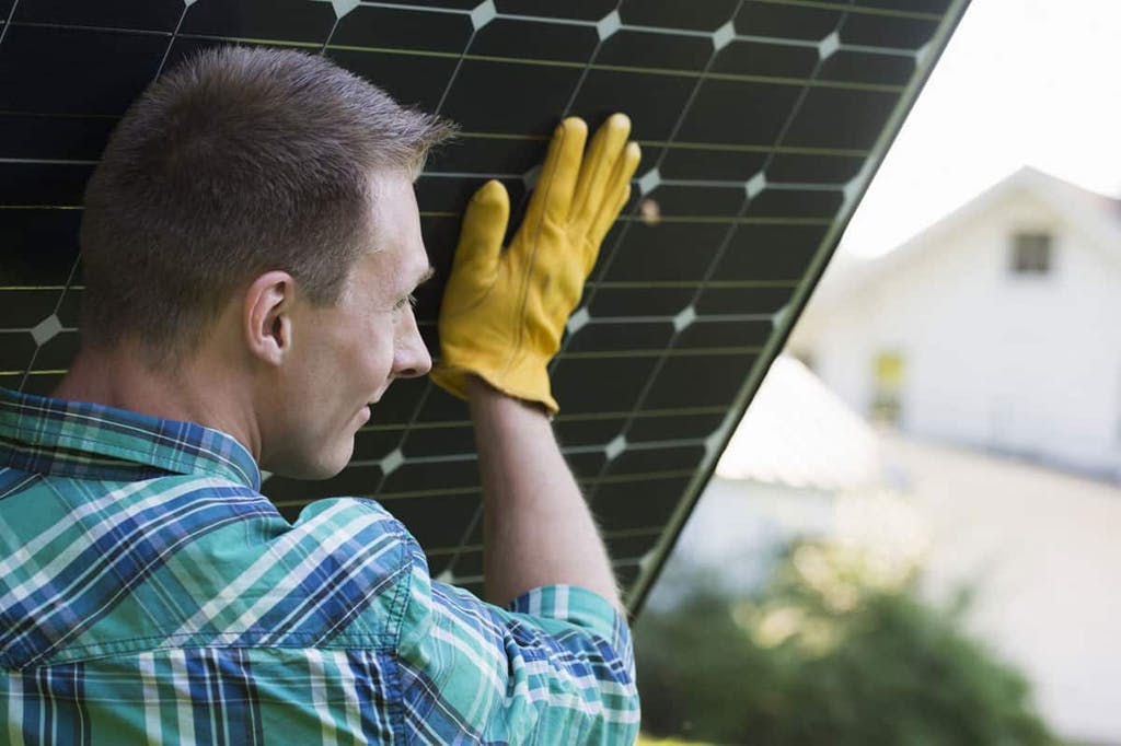 Wear the proper safety equipment when installing your panels.