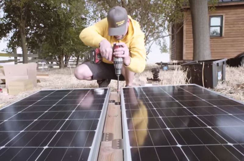 Setting Tiny Home Solar System
