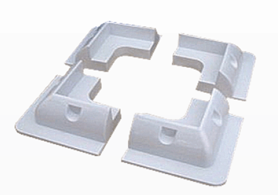Solarland Solarland SLB-0117 RV Corner Kit - White (set of 4)
