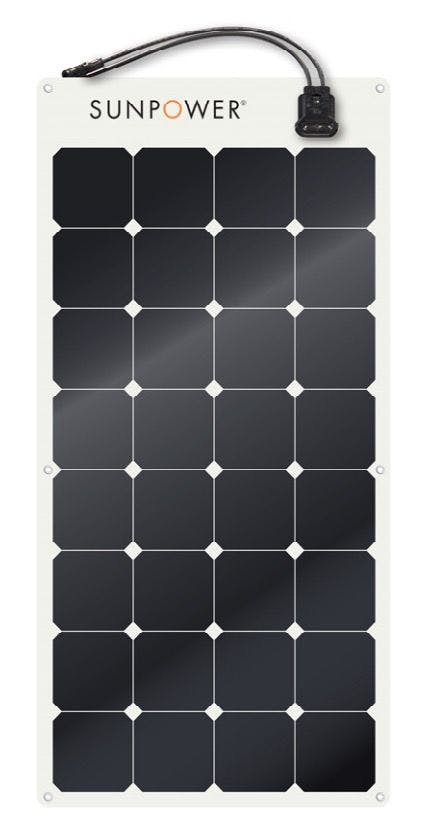 SunPower SPR-E-Flex-100 Flexible 100 watt module Solar Panel