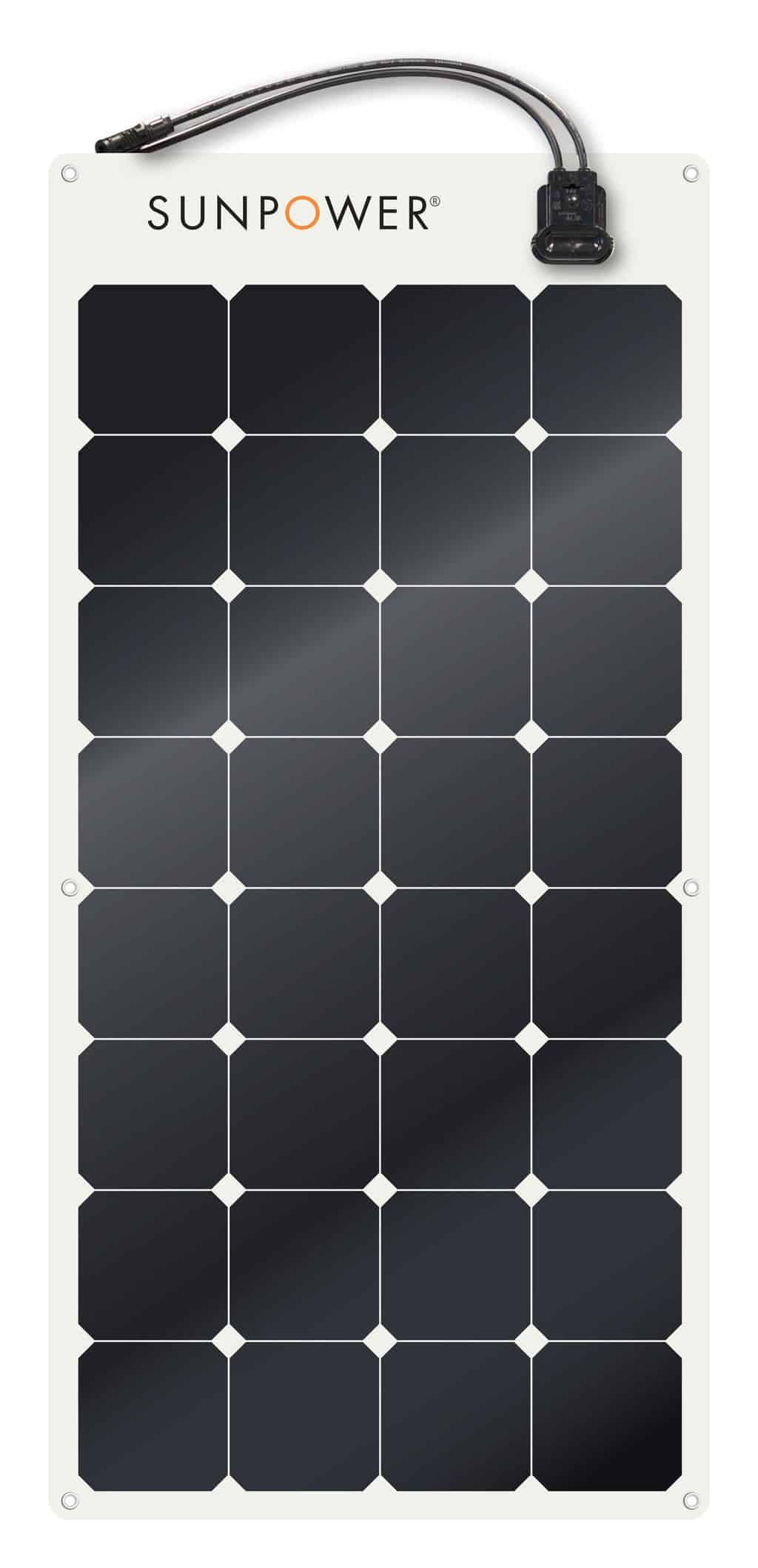 SunPower SPR-E-Flex-100 Flexible 100 watt 12 Volt Solar Panel