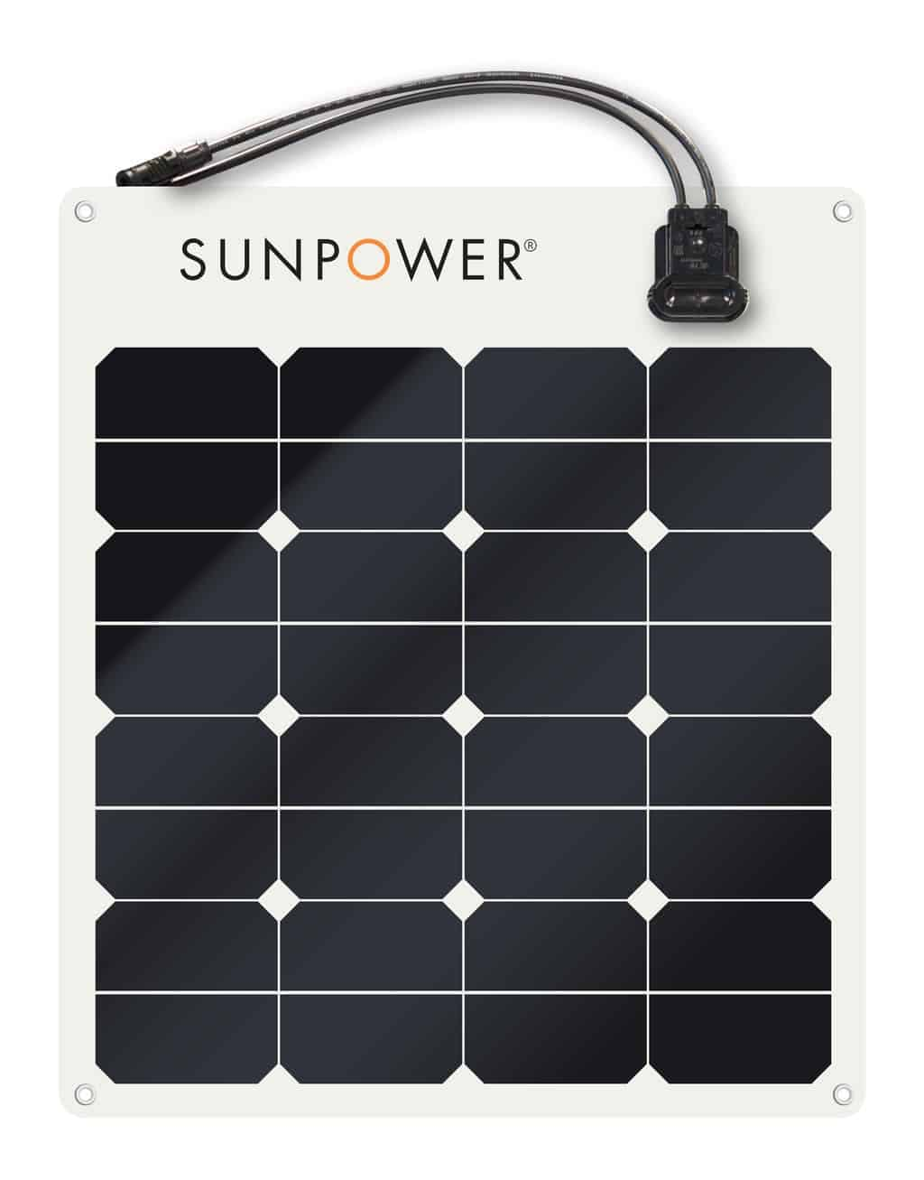 SunPower SPR-E-Flex-50 Flexible 50 watt 12 Volt Solar Panel